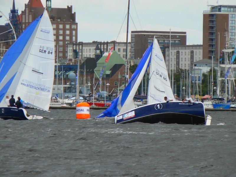 Matchrace auf der Warnow zur Hanse Sail