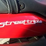 Triumph Street Triple R 2012 Diablo Red Logo