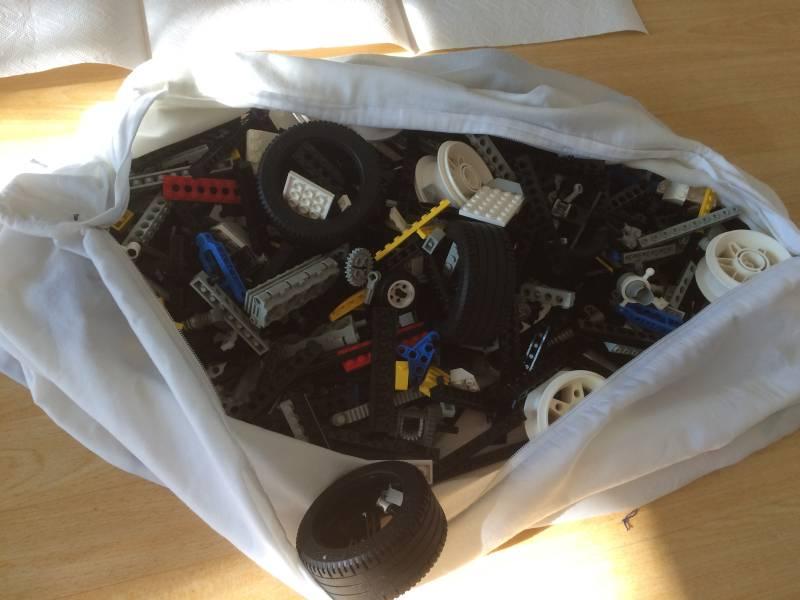 Foto Lego waschen im Kopfkissenbezug