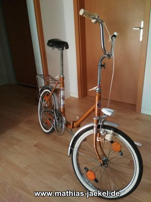 wie ich zum klappfahrrad kam altes fahrrad entrosten und. Black Bedroom Furniture Sets. Home Design Ideas
