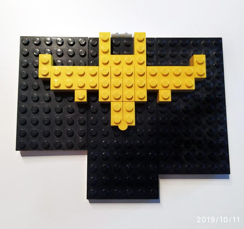 Batman Zeichen aus Lego