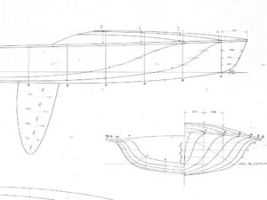 505er Segelboot Modell