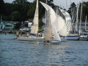 505er segeln kyrwood GER8458 bei der Freitagsregatta