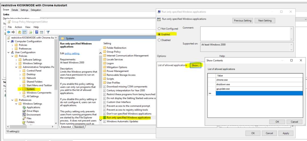 Gpo Kioskmode Restriktiv Chrome 2
