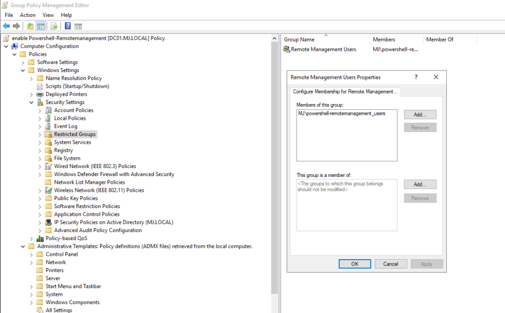 Gpo Powershell Enable Remotemanagement