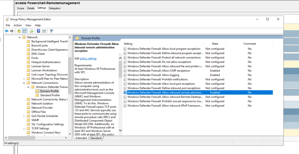 Gpo Powershell Remotemanagement 5